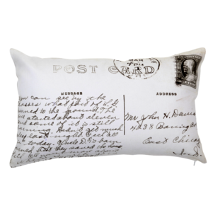 POST CARD CUSHION COVER