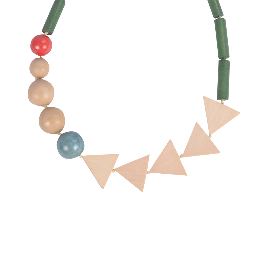 CHEVRON GREEN TRIBAL NECKLACE