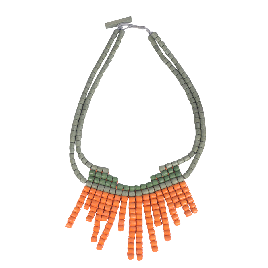 ORANGE ABROGINAL NECKLACE