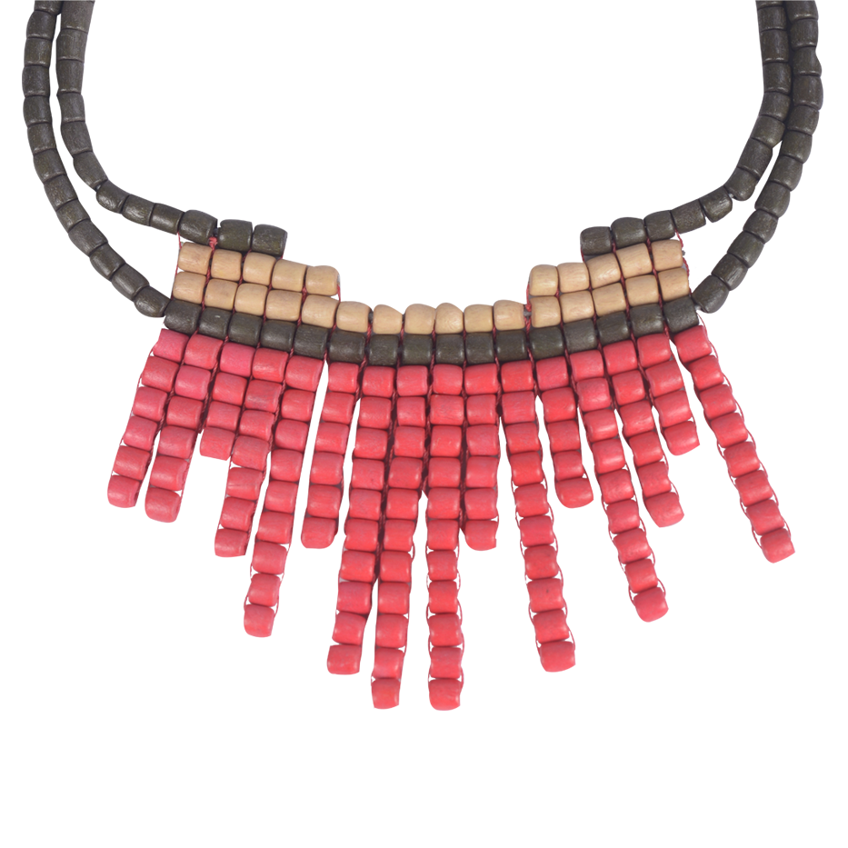 CORAL ABROGINAL NECKLACE