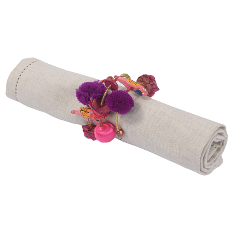 WHISTLING NEST PINK NAPKIN RING