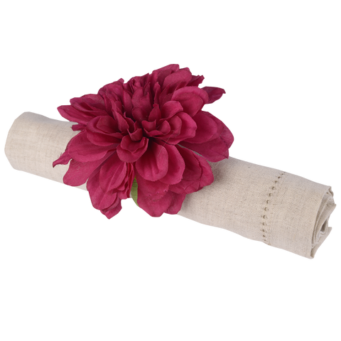 PURPLE DAHLIA NAPKIN RING