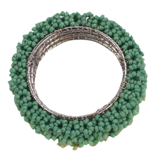 GREEN OMBRE NAPKIN RING