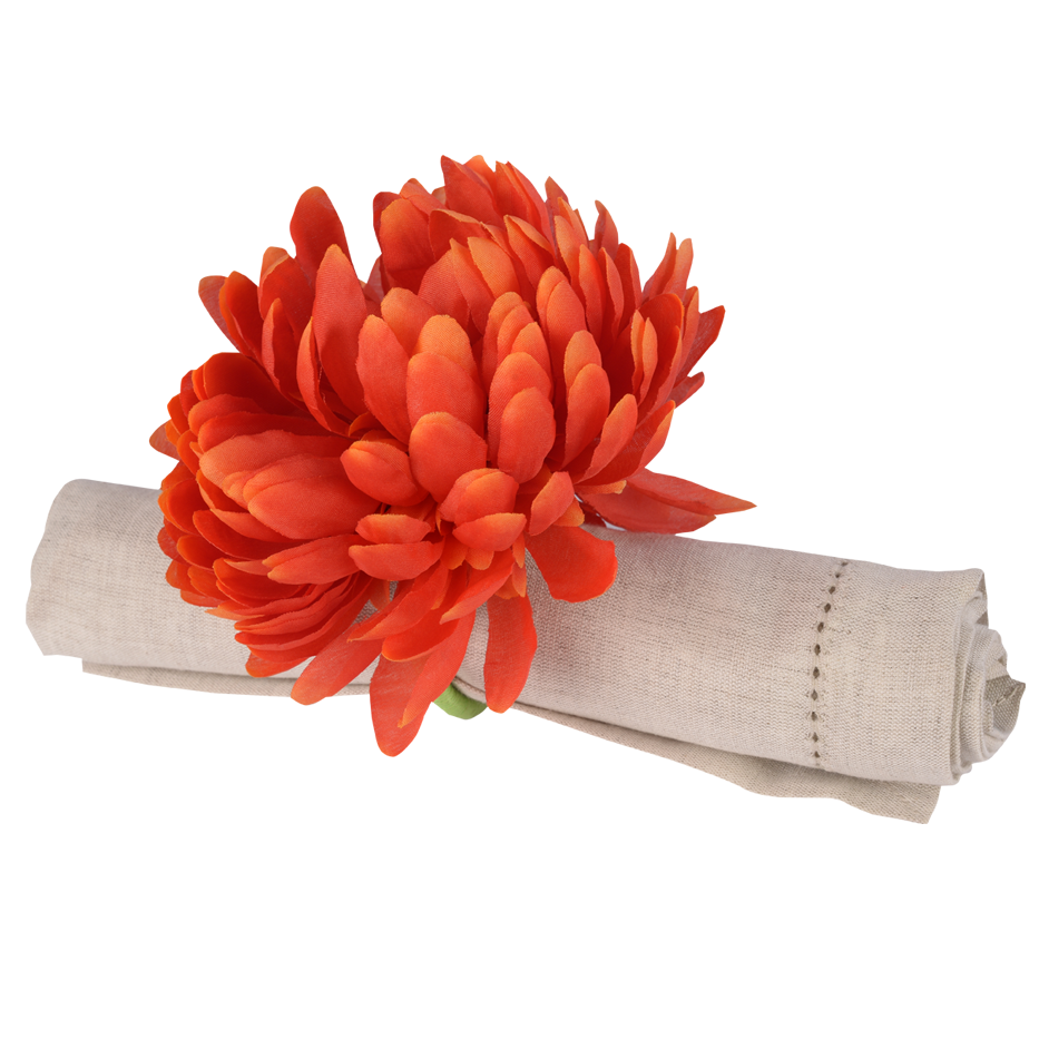 CHRYSANTHEMUM NAPKIN RING