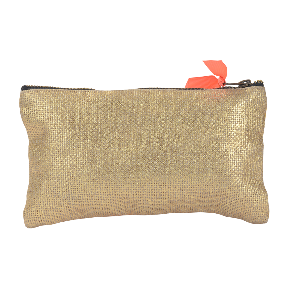 ORANGE ARTSY FOIL POUCH