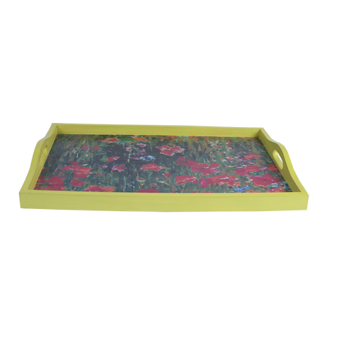 IMPRESSIONIST FLORAL TRAY