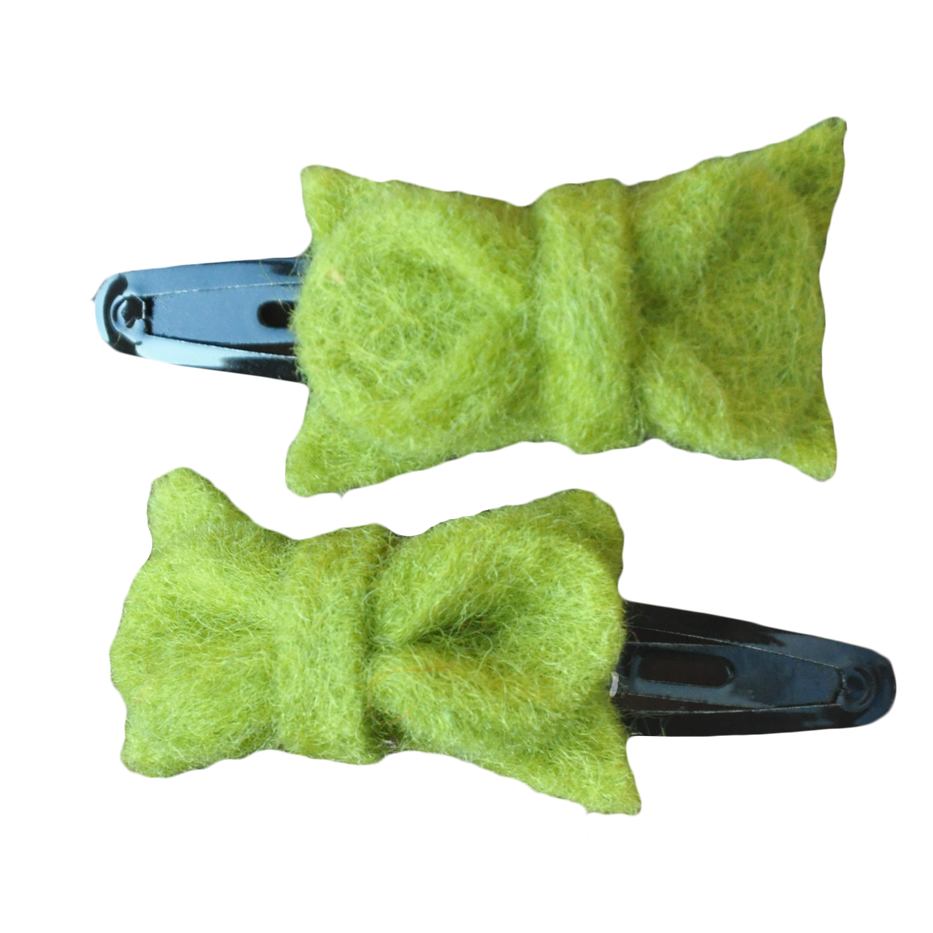 GRASS BOWTIE HAIRCLIP (SET OF 2)