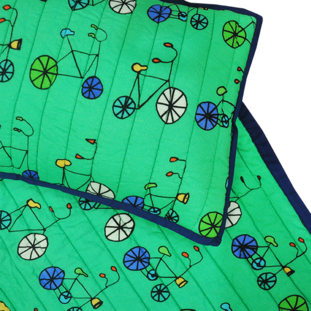BICYCLE CRIB QUILT!