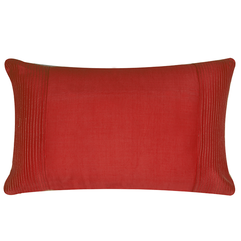 PLEATED GOLD PINTUCKS RED