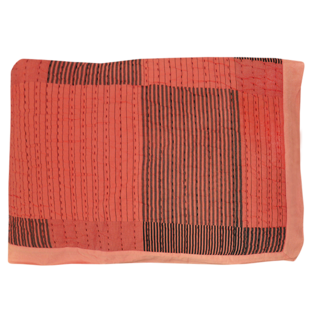 STRIPY RED PATCH QUILT