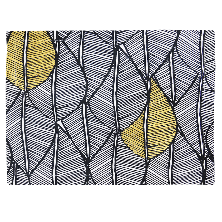 MODERN YELLOW LEAF PATTERN PLACEMAT