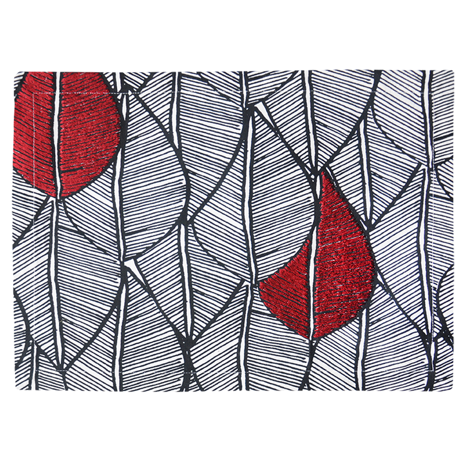 MODERN RED LEAF PATTERN PLACEMAT