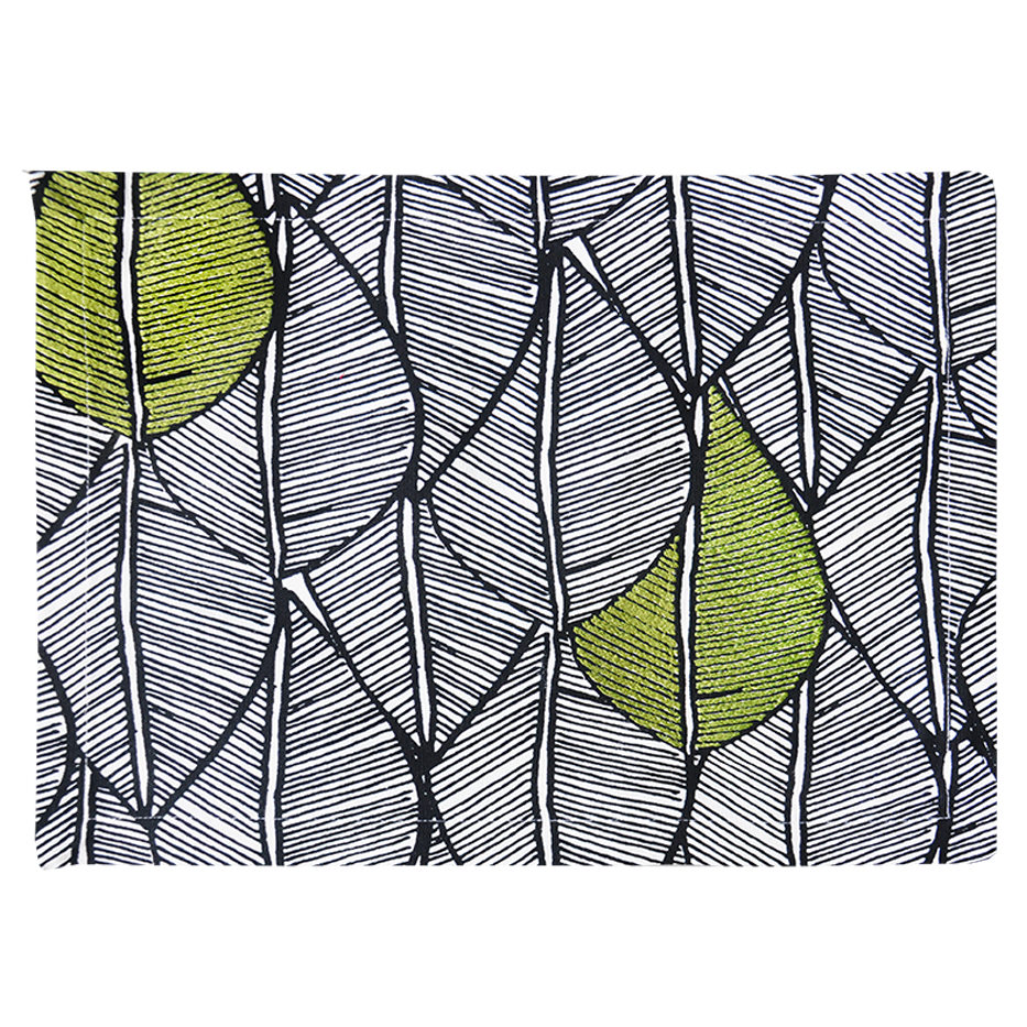 MODERN GREEN LEAF PATTERN PLACEMAT