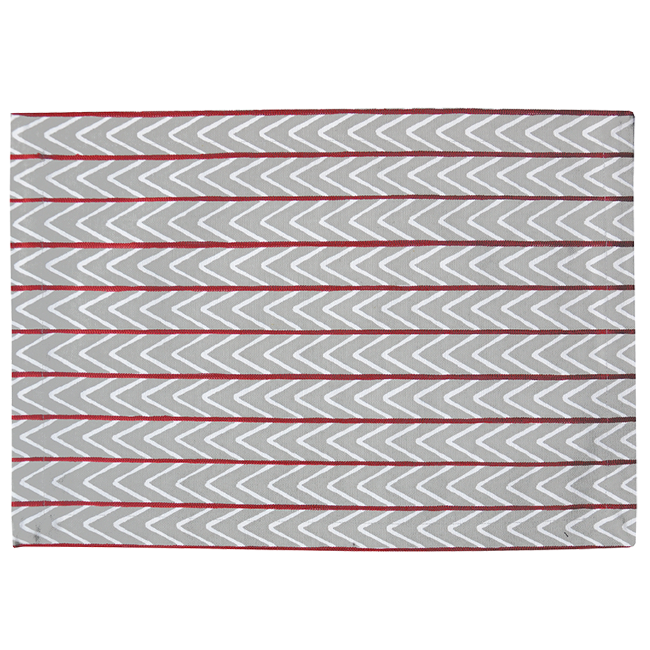 HARBOUR GREY & MAROON CHEVRONS PLACEMAT