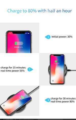 Baseus 10W Wireless Charger Fast Wireless Charging Pad For Qi-enabled Smart Phones For iPhone 11 SE 2020 For Samsung Galaxy S20 Huawei P40 Pro Mi 10