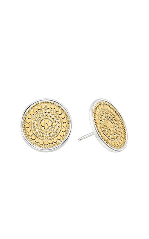 Signature Medallion Stud Earrings - Gold/Silver