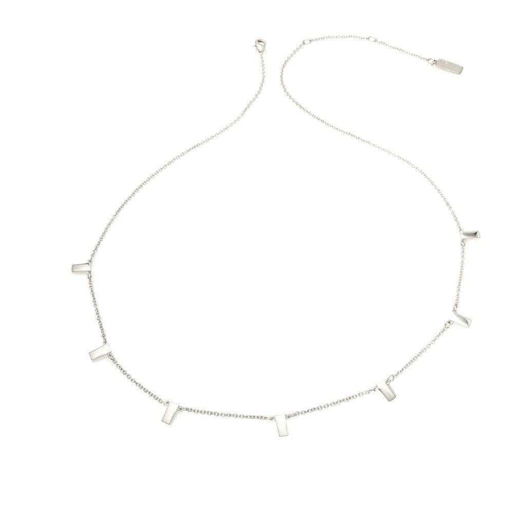 Multi Bar Necklace - Silver