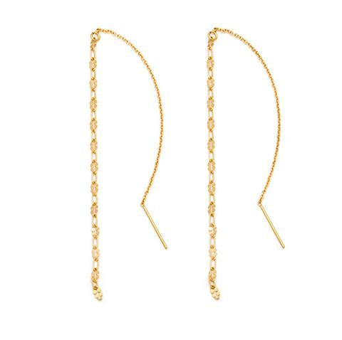 Oro Threader Earrings - Gold