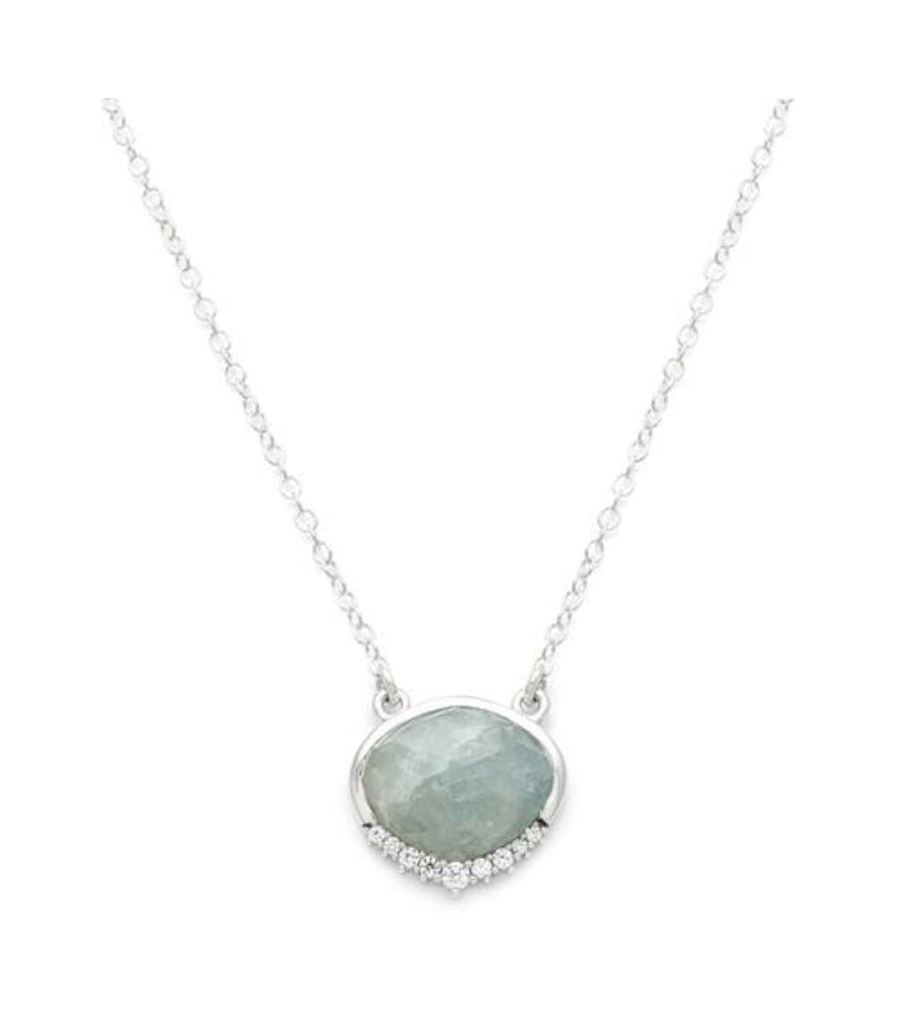 Anni Necklace - Aquamarine