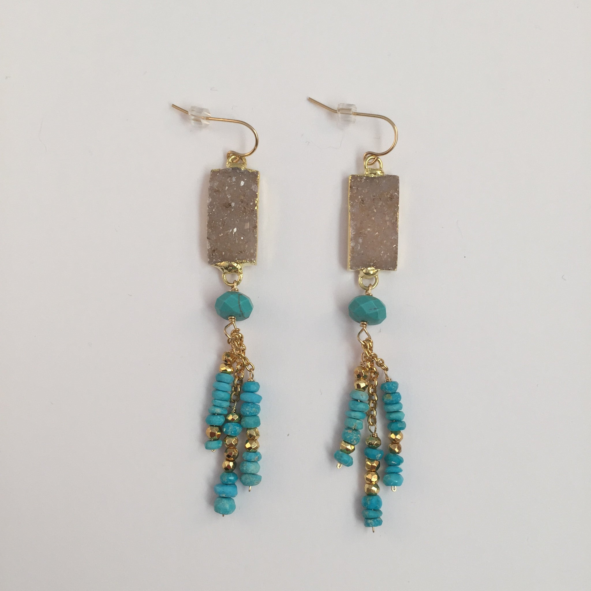 Druzy & Turquoise Earrings