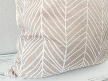 Load image into Gallery viewer, Neutral Herringbone Pillow Cover