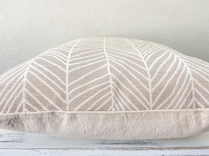 Neutral Herringbone Pillow Cover