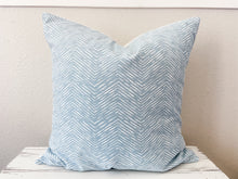 Load image into Gallery viewer, Blue Herringbone Pillow Cover