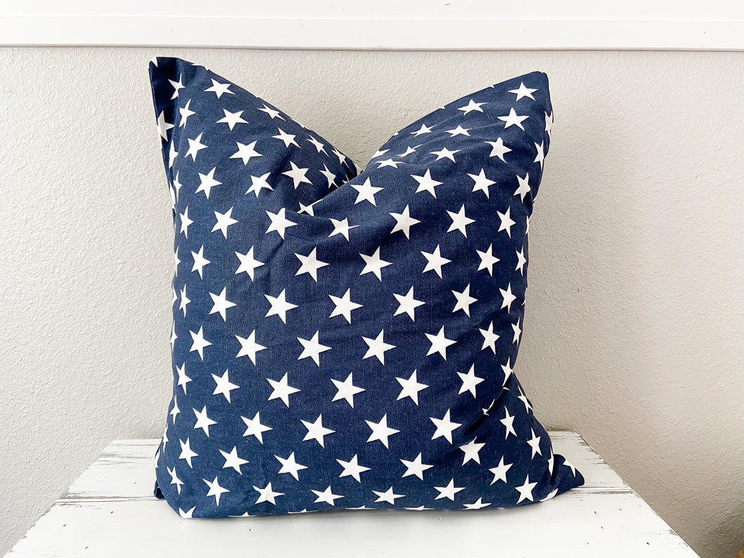 Navy Stars Pillow Covers