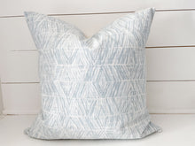 Load image into Gallery viewer, Blue Diamonds Pillow Cover
