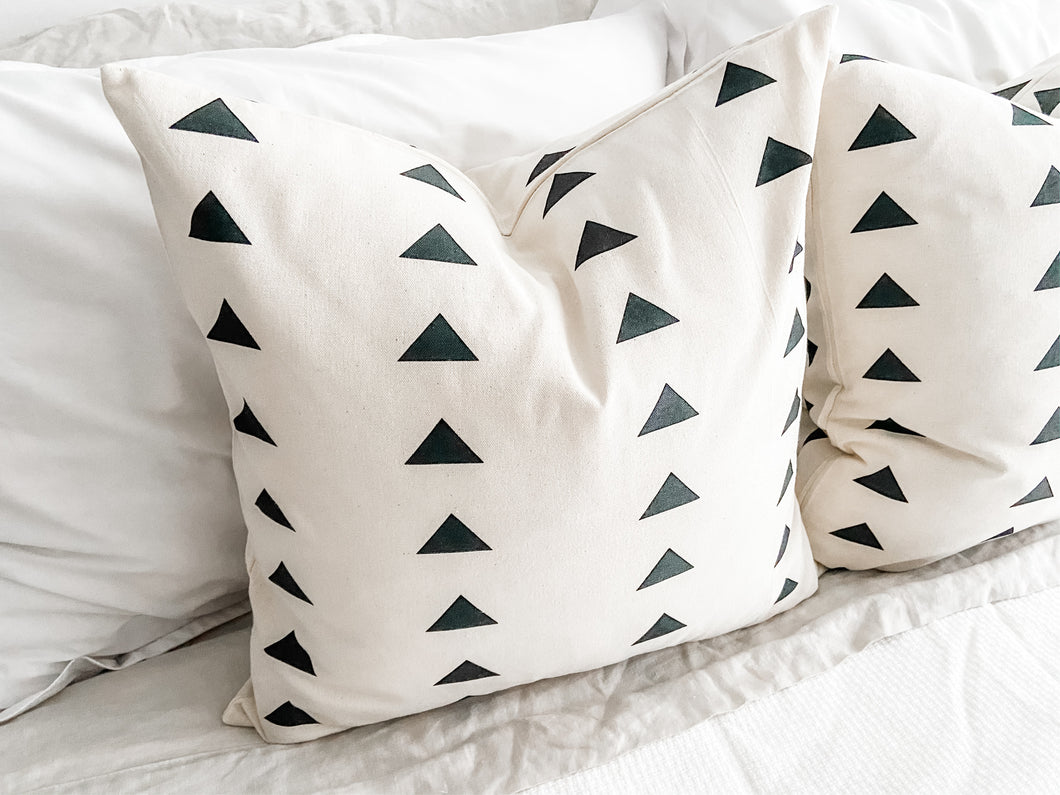 Modern Triangles Pillow Cover