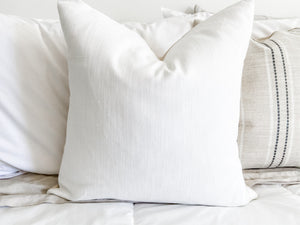 Timeless White Pillow Cover