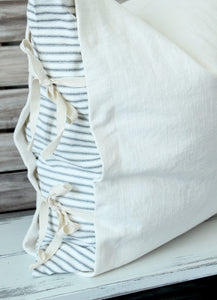 Oh Snap! Black and White Ticking Stripe Panel