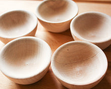 Load image into Gallery viewer, Set of 5 Mini Wood Bowls