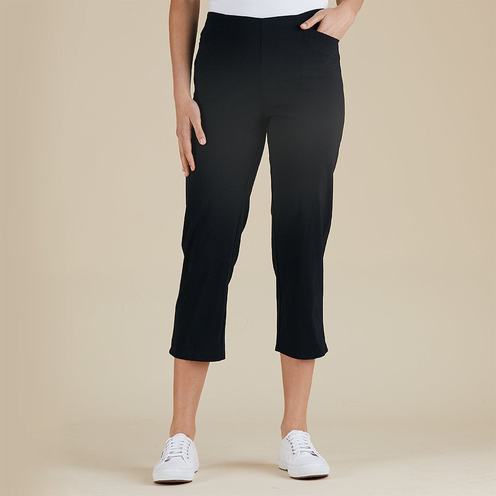 7/8th Basic Pant - Black