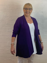 Load image into Gallery viewer, Waterfall Cardi - Purple