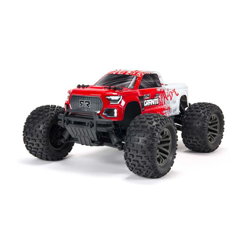 Arrma Granite 4X4 V3 3S BLX 1/10 RTR Brushless 4WD Monster Truck (Red) w/Spektrum SLT3 2.4GHz Radio
