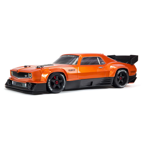 Arrma Felony 6S BLX Brushless 1/7 RTR Electric 4WD Street Bash Muscle Car (Orange) w/DX3 2.4GHz Radio, Smart ESC & AVC