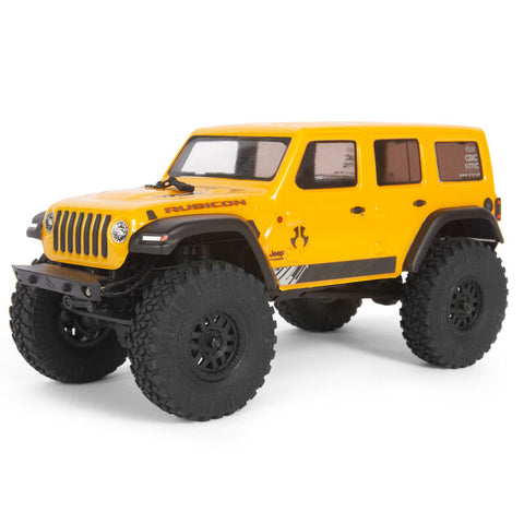 Axial SCX24 2019 Jeep Wrangler JLU CRC 1/24 4WD RTR Scale Mini Crawler (Yellow) w/2.4GHz Radio