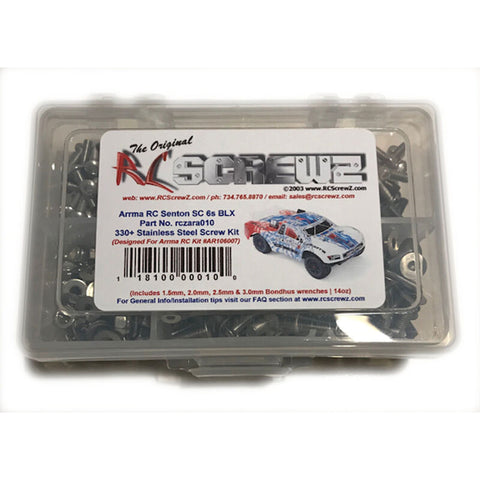 RC Screwz Stainless Steel Screw Set: ARRMA SENTON SCT