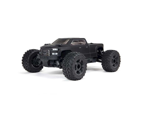 ARRMA BIG ROCK CREW CAB 4X4 V3 3S 1/10 RTR BRUSHLESS MONSTER TRUCK, MATTE BLACK