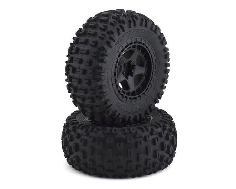 Arrma dBooots Fortress SC Tire Set Glued Black (2)