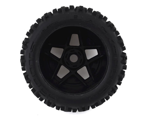 Arrma BLX 4x4 Backflip LP 4S 3.8 Pre-Mounted 1/8 Monster Truck Tires (Black) (2)