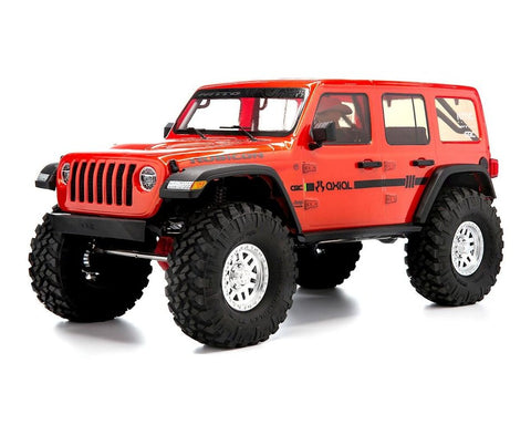 "Axial SCX10 III ""Jeep JLU Wrangler"" RTR 4WD Rock Crawler (Orange) w/Portals & DX3 2.4GHz Radio"