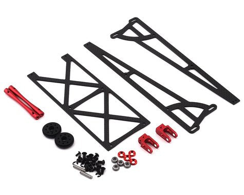 DragRace Concepts Slider Wheelie Bar w/Plastic Wheels (Red)