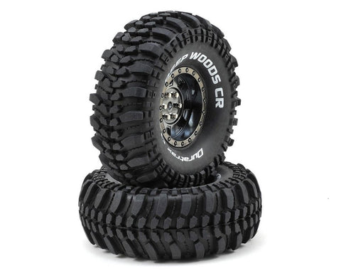 "DuraTrax Deep Woods CR 1.9"" Pre-Mounted Crawler Tires (2) (Black Chrome) (C3 - Super Soft)"