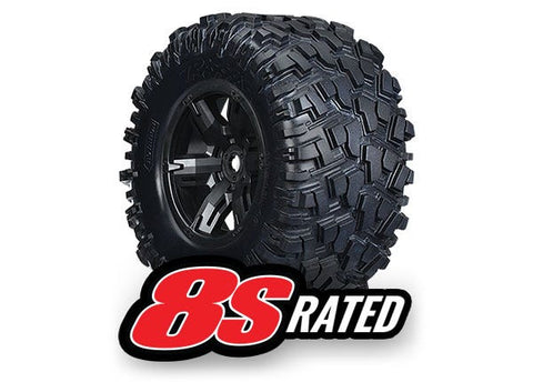 Traxxas X-Maxx Black Wheels/Maxx Tire, Left & Right, (2)