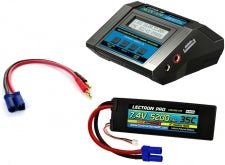 Lectron Pro Power Pack #04 - ACDC-10A Charger + 1 x 7.4V 5200mah 35C w/ EC5 Connector (#2S5200-355)