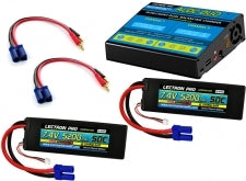 Lectron Pro Power Pack #48 - ACDC-DUO Charger + 2 x 7.4V 5200mah 50C w/ EC5 Connector (#2S5200-505)