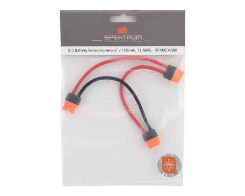 "Spektrum RC IC3 Battery Series Harness (6""/150mm)"
