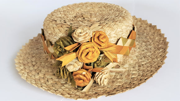 Samoan Handwoven Ladies Hat - Poutasi Development Trust
